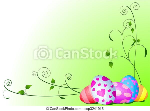 卵, イースター, 背景 - csp3241915