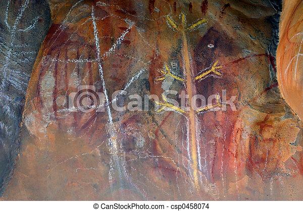 原生の芸術, 岩 - csp0458074
