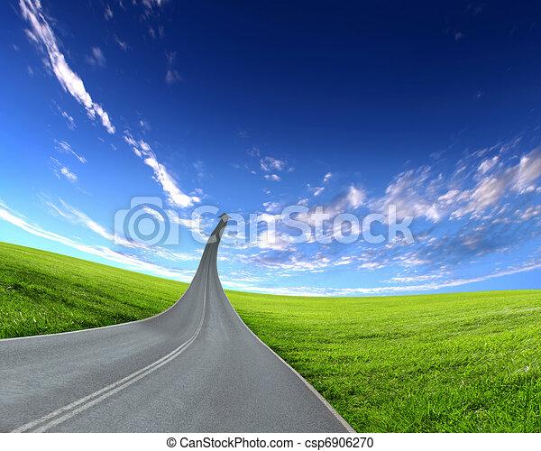 去, 高速公路, 路, 向上 - csp6906270