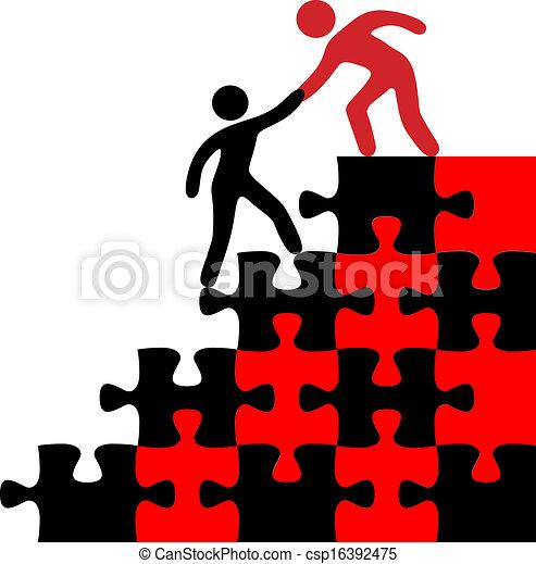 参加しなさい, ファインド, 人, 解決, 助け - csp16392475