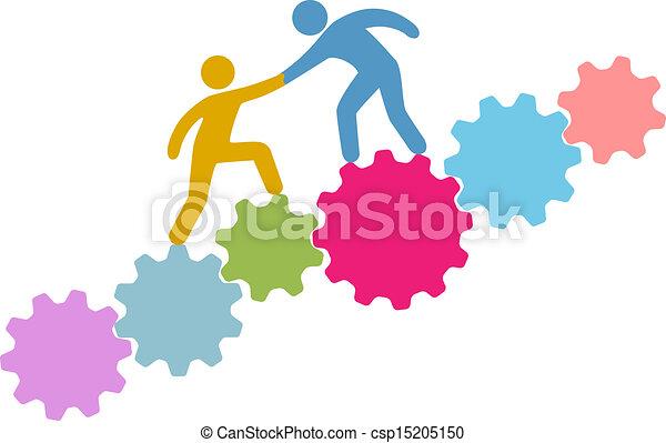 参加しなさい, 人々, 技術, 連結しなさい, 助け - csp15205150