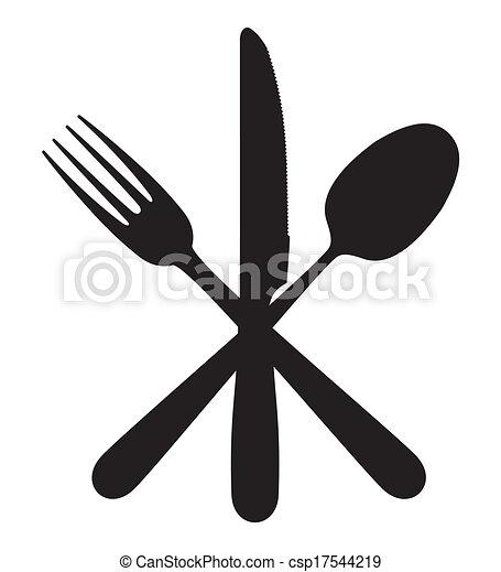 叉子, 勺, 刀 - csp17544219