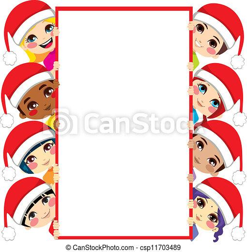 友人, クリスマス, 子供 - csp11703489