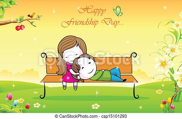 友情, 日, 幸せ - csp15101293