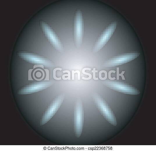 反射, 背景, 円 - csp22368758