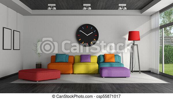 反響室, カラフルである - csp55871017