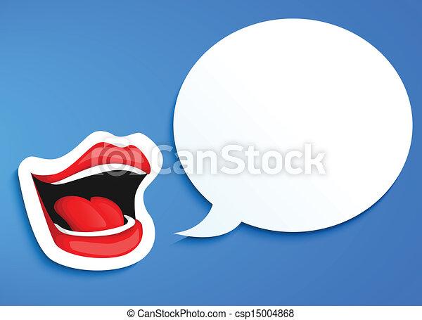 口, 話すこと - csp15004868