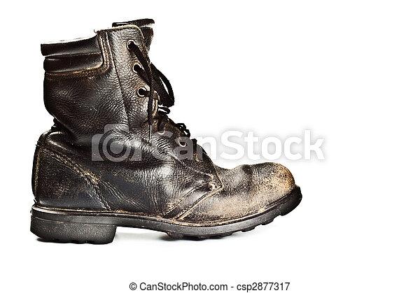 古いスタイル, ブーツ, 軍隊 - csp2877317