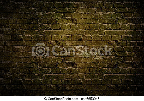 古い, れんが, wall., グランジ, バックグラウンド。 - csp6653948