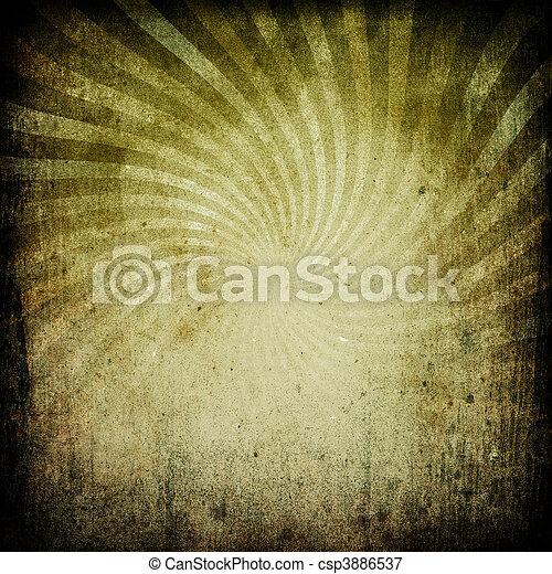古い, イメージ, グランジ, 年を取った, sunburst, paper. - csp3886537
