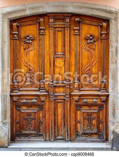 古い, ドア - csp9008466