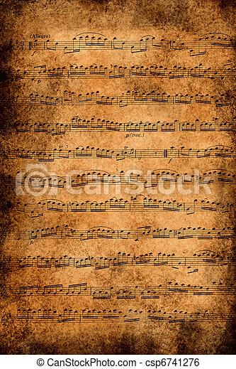 古い, ペーパー, 音楽 - csp6741276
