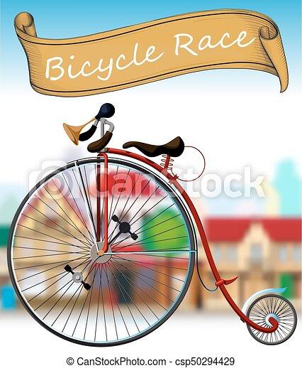 古い, レース, 自転車 - csp50294429