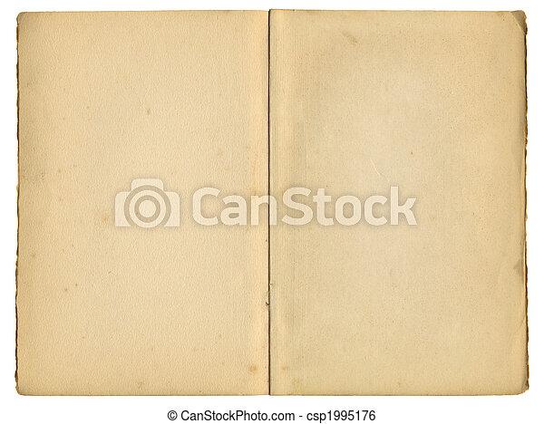 古い, 型, 上に, 本, 隔離された, ページ, white., 中 - csp1995176