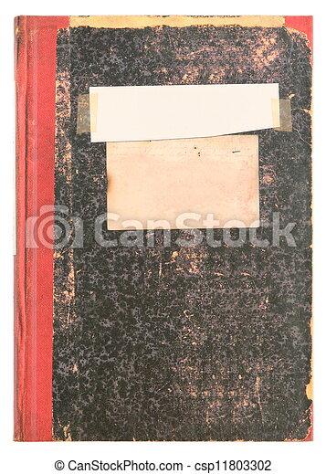 古い, 型, -, 表面, ラベル, 本, 日記, ざらざらしている, ∥あるいは∥, 空 - csp11803302