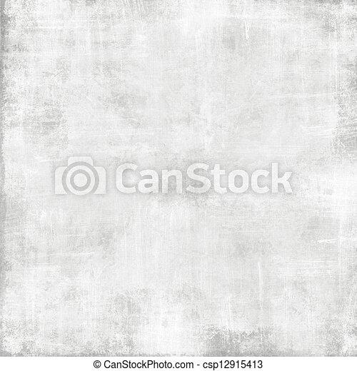 古い, 抽象的, -, 手ざわり, ペーパー, 背景, グランジ, 白 - csp12915413