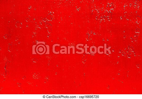 古い, 抽象的, 金属, 表面, ペンキ, 背景, 赤 - csp16695720