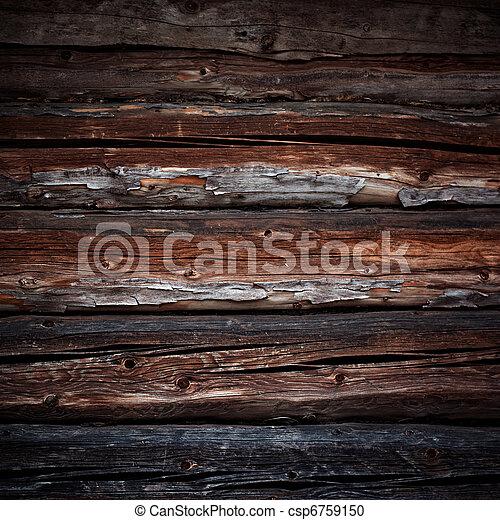 古い, 木材を伐採する, 背景 - csp6759150