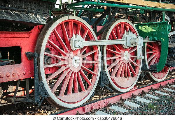 古い, 蒸気機関車 - csp30476846