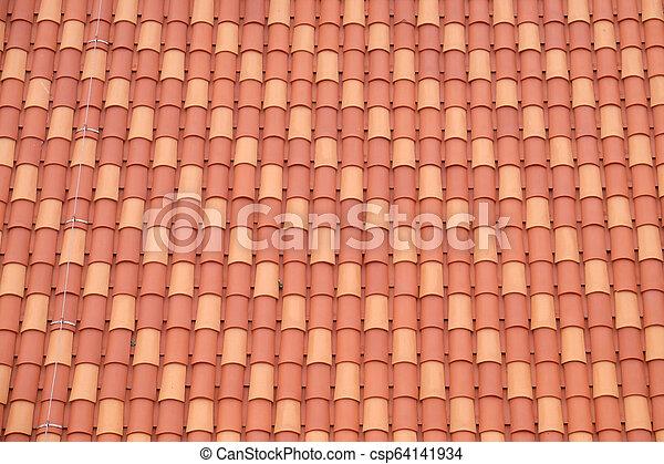 古い 都市, dubrovnik, 屋根, croatia, 典型的 - csp64141934