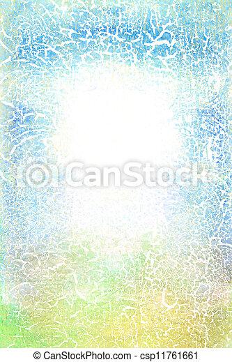 古い, 青, canvas:, 抽象的, 白, パターン, 緑の背景, textured - csp11761661