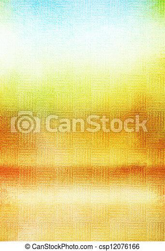 古い, 青, canvas:, 抽象的, 黄色, パターン, 背景, textured, 緑, 白, 背景 - csp12076166
