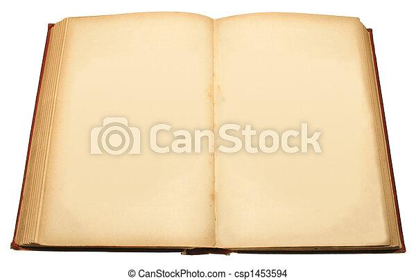 古い, book. - csp1453594