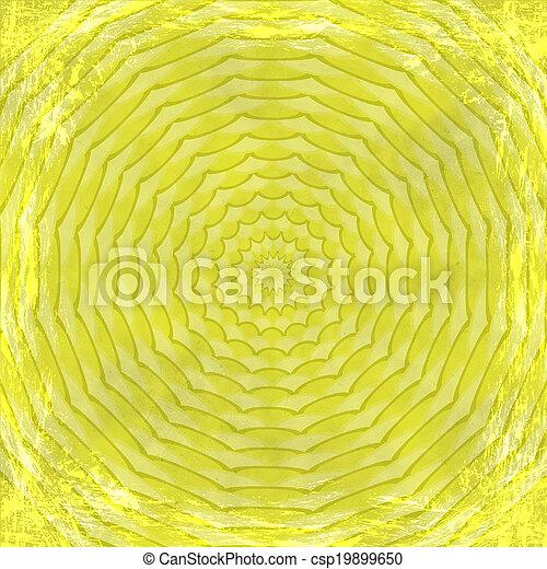古い, border., 型, 抽象的, 手ざわり, 金, バックグラウンド。, 黄色, グランジ, フレーム - csp19899650