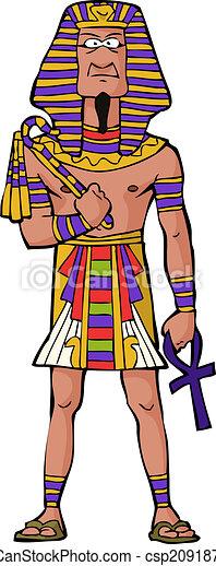 古代, ファラオ, エジプト人 - csp20918769