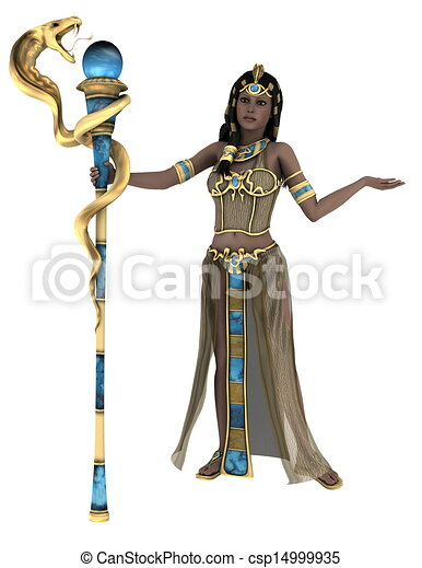 古代, 女王, エジプト人 - csp14999935