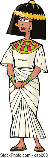 古代, 女, エジプト人 - csp20838022