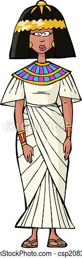 古代, 女, エジプト人 - csp20838024