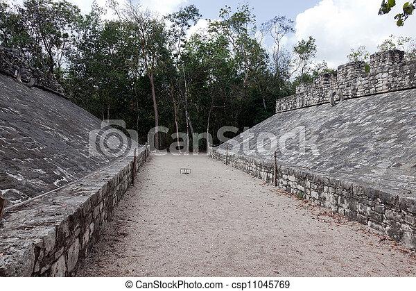 古代, 法廷, mayan, ボール - csp11045769