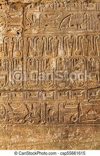 古代, 象形文字, 背景, 手ざわり, エジプト人 - csp55661615