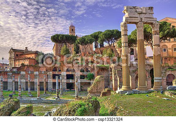 古代, italy., ローマ, ruins. - csp13321324