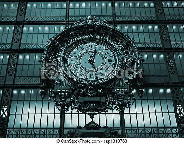 古老, 鐘, 巴黎, 博物館, -, orsay - csp1310763