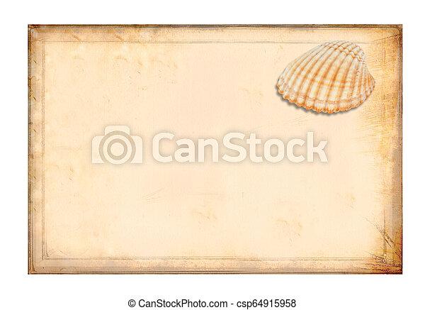 古董, 淡黄色, paper., 羊皮纸 - csp64915958