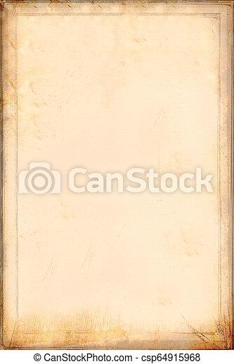 古董, 淡黄色, paper., 羊皮纸 - csp64915968