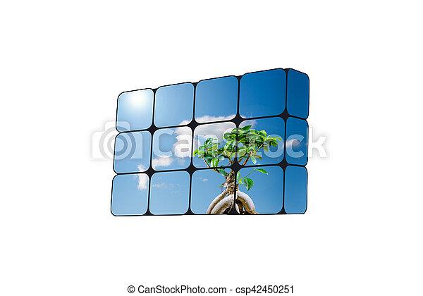 可持續, 立方, 成長, concept:, 手 - csp42450251