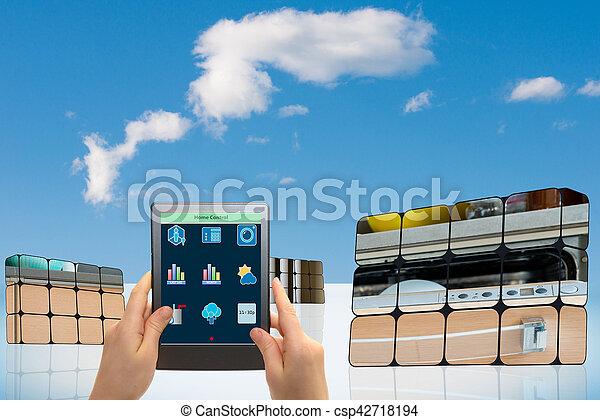 可持續, 立方, 成長, concept:, 手 - csp42718194