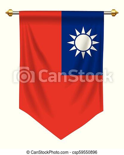台湾 優勝旗 隔離された あるいは 旗 優勝旗 台湾 白
