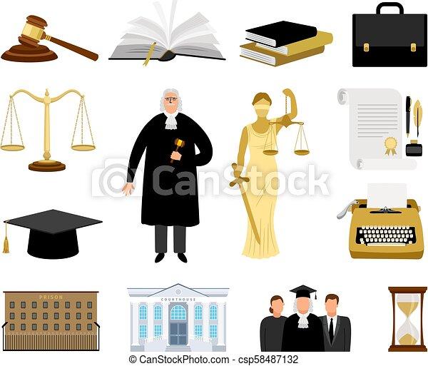 司法権, 漫画, 要素, 法律 - csp58487132