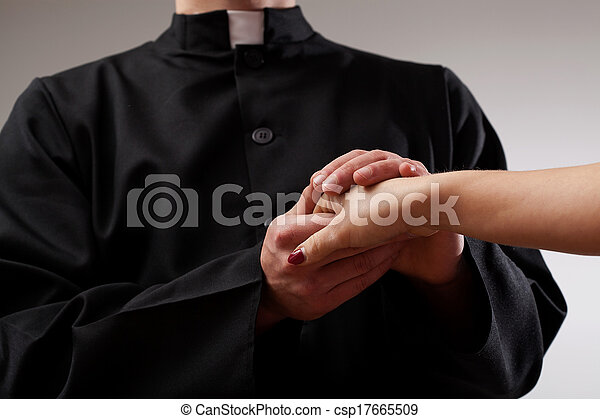 司祭, 保有物, 信者, 手 - csp17665509