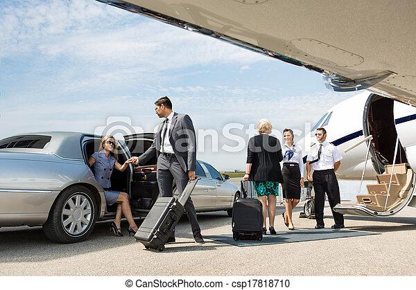 合伙人, 大约, 喷射, 商业, 私人, 板 - csp17818710