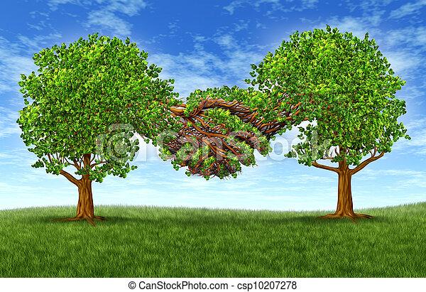 合作, 成長, 事務, 成功 - csp10207278