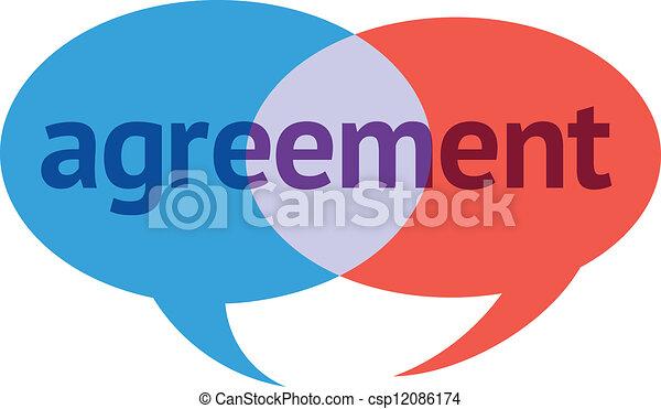 合意, 対話 - csp12086174