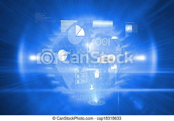 合成, データ, イメージ, 技術, 背景 - csp18318633
