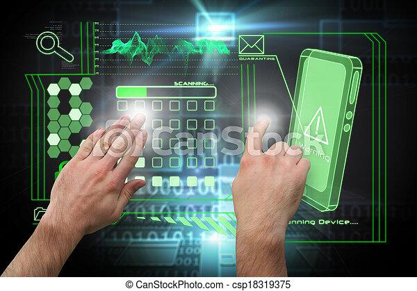 合成, 手, 提出すること, イメージ, 指すこと - csp18319375