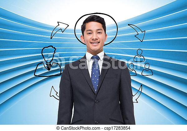 合成, 背景, ビジネス青, 未来派, 計画, イメージ - csp17283854
