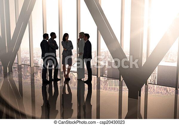 合成, 話し, 同僚, イメージ, ビジネス - csp20430023